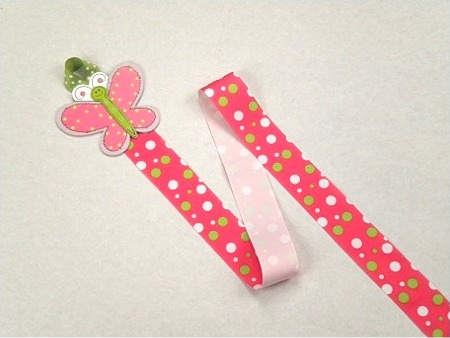 Pink Butterfly Barrette Holder