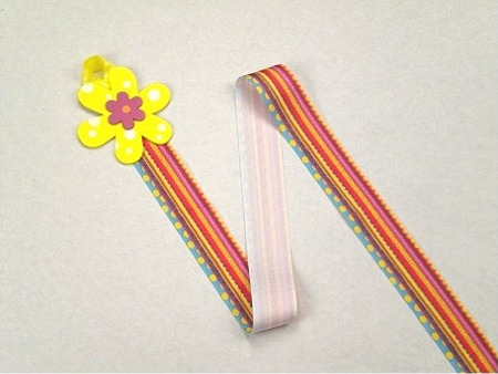 Yellow Flower Barrette Holder