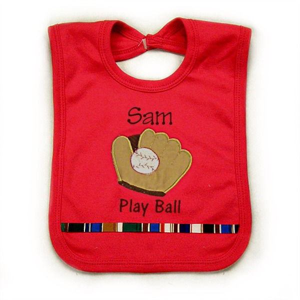 Baseball Glove Personalized Bib