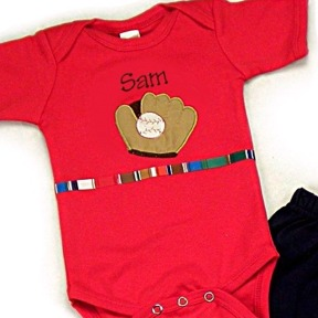 Baseball Glove Personalized Onesies & T-Shirts