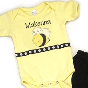 Bee Personalized Onesies & T-Shirts
