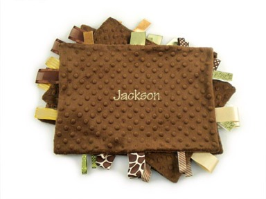 Brown Personalized Tag-Along Blanket