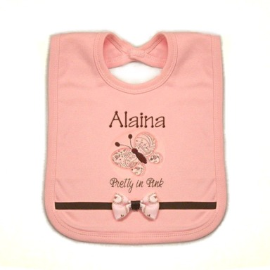 Butterfly Personalized Bib