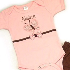 Butterfly Personalized Onesies & T-Shirts