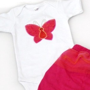 Butterfly Tutu Cute Onesies & T-Shirts