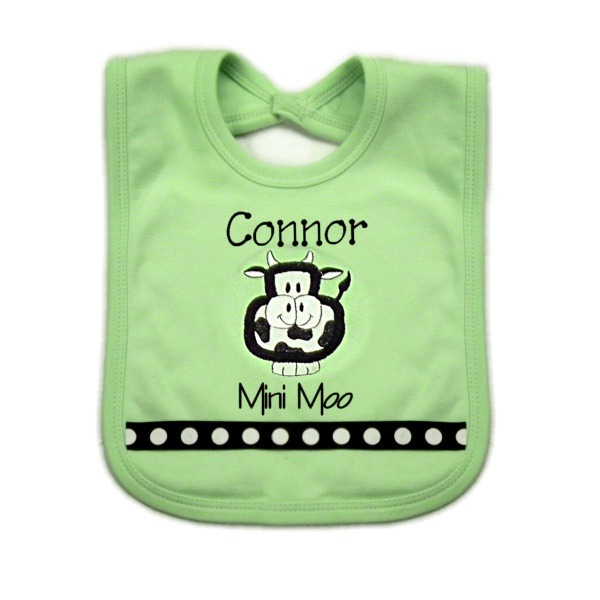 Cow Personalized Bib