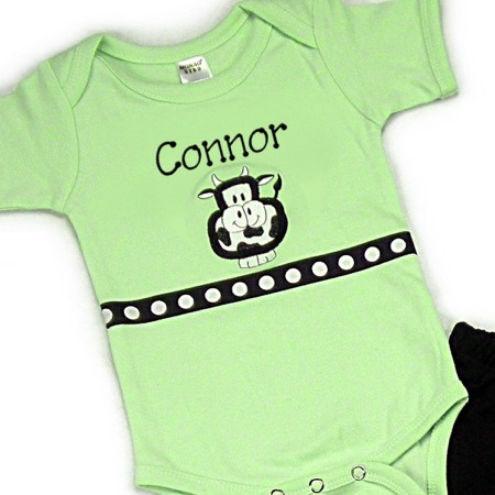Cow Personalized Onesies & T-Shirts