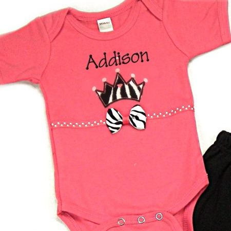 Crown Personalized Onesies & T-Shirts