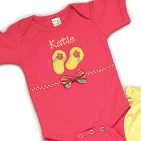 Flip Flops Personalized Onesies & T-Shirts