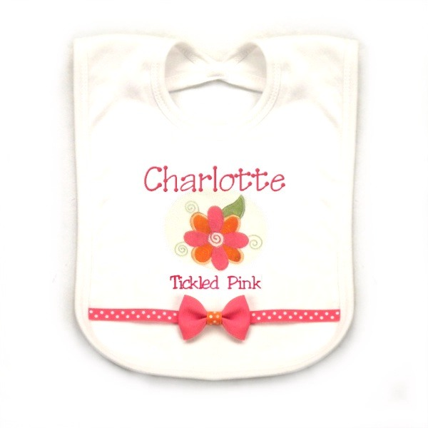 Flower Personalized Bib
