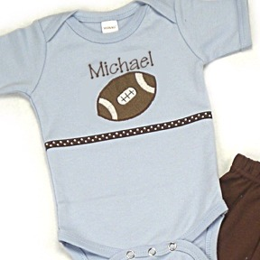 Football Personalized Onesies & T-Shirts