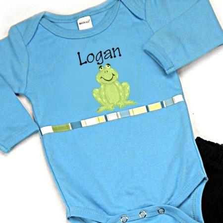 Frog Personalized Onesies & T-Shirts