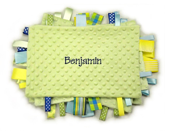 Green Personalized Tag-Along Blanket