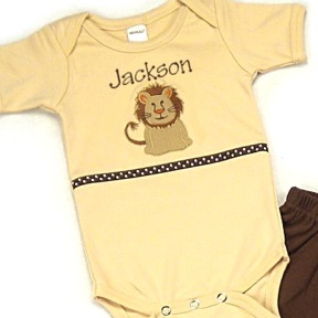 Lion Personalized Onesies & T-Shirts