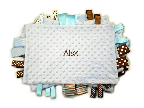 Light Blue Personalized Tag-Along Blanket
