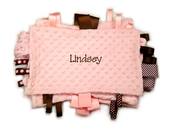 Light Pink Personalized Tag-Along Blanket