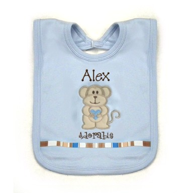 Monkey Personalized Bib