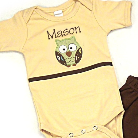 Owl Personalized Onesies & T-Shirts