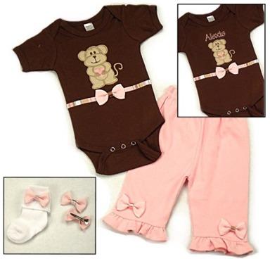 Pink Monkey Onesies & T-Shirts