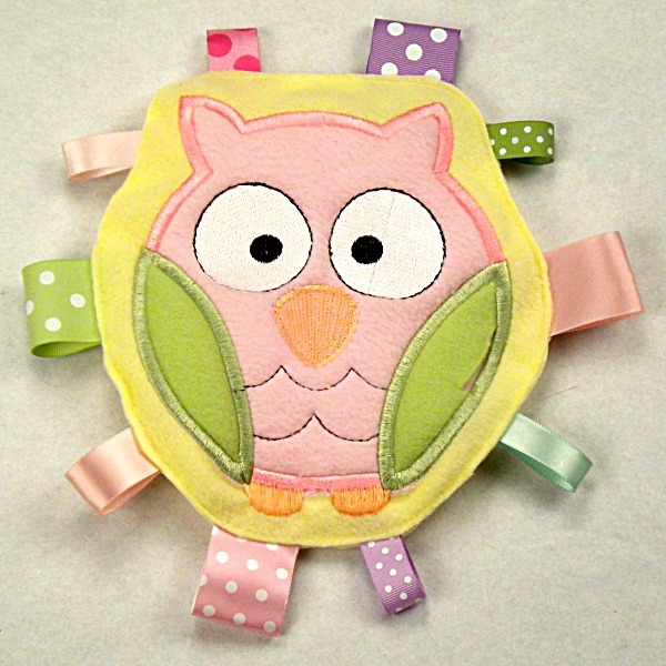 Pink Owl Personalized Tag-Along Buddy