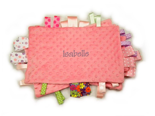 Pink Personalized Tag-Along Blanket