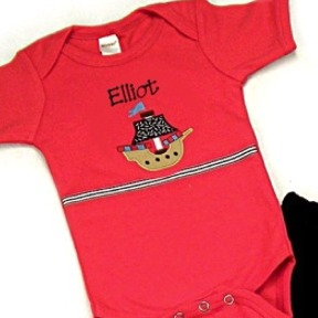 Pirate Ship Personalized Onesies & T-Shirts