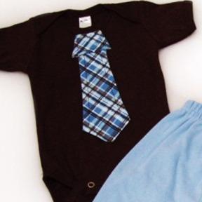 Plaid Tie Onesies & T-Shirts