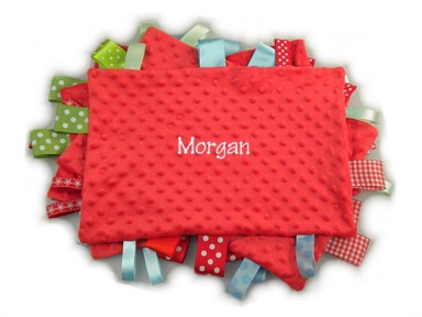 Red Personalized Tag-Along Blanket
