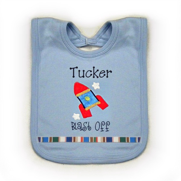 Rocket Personalized Bib