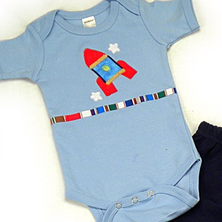 Rocket Onesies & T-Shirts