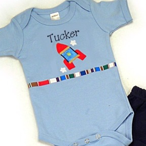 Rocket Personalized Onesies & T-Shirts