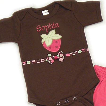 Strawberry Personalized Onesies & T-Shirts