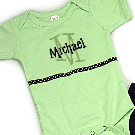 Green & Navy Personalized Onesies & T-Shirts
