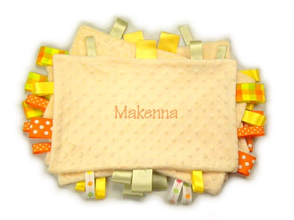 Yellow Personalized Tag-Along Blanket