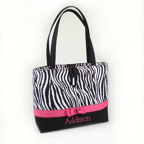 Zebra Personalized Mommy on the Go Bag