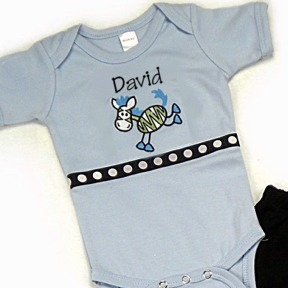 Zebra Personalized Onesies & T-Shirts