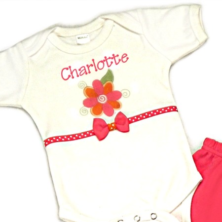 Flower Personalized Onesies & T-Shirts