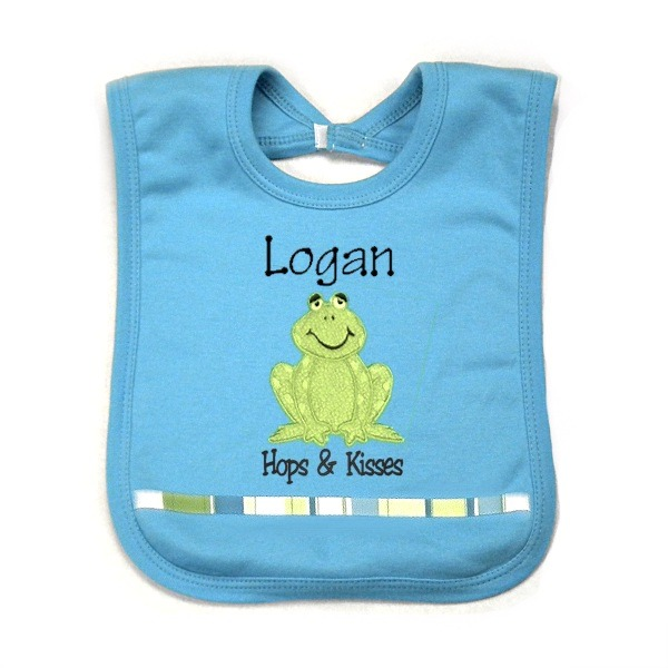 Frog Personalized Bib